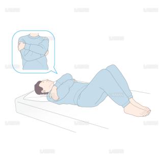 患者の腕を組み膝を立てる (Sサイズ)