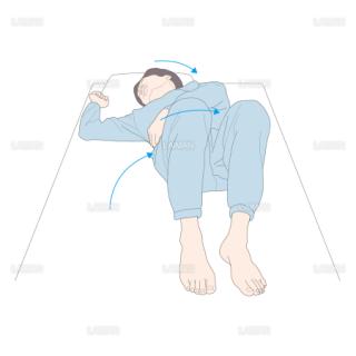 側臥位から仰臥位 (Sサイズ)