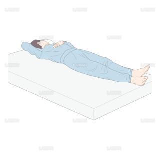 仰臥位から腹臥位 (Sサイズ)