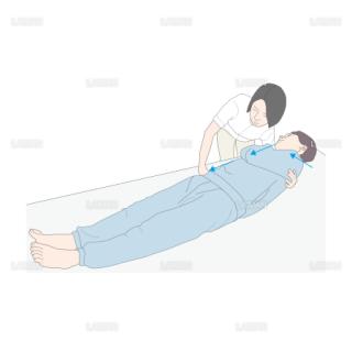 仰臥位から端座位 (Sサイズ)