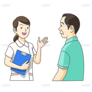 看護婦による患者への説明(Mサイズ)
