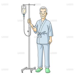 点滴の男性患者(Sサイズ)