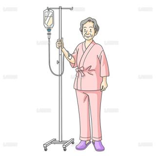 点滴の女性患者(Sサイズ)