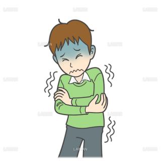 患者イラスト 寒気(Mサイズ)