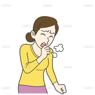 患者イラスト 咳(Mサイズ)