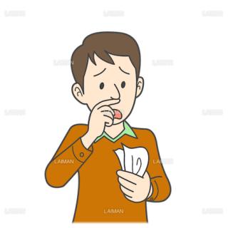 患者イラスト 鼻水(Mサイズ)