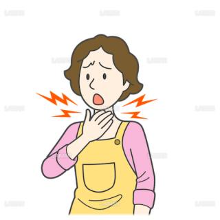 患者イラスト 喉の痛み(Mサイズ)