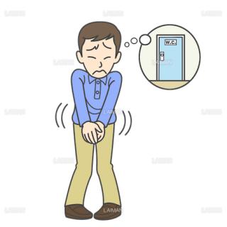 患者イラスト 頻尿(Mサイズ)