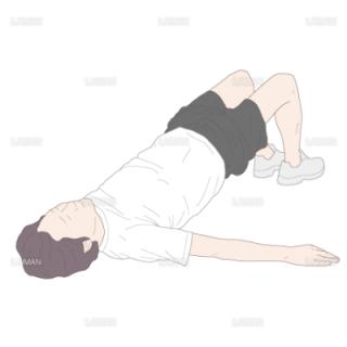 膝関節90°屈曲位からの両脚ヒップアップ(Mサイズ)