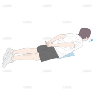 下肢・体幹筋力増強訓練 背筋運動(Mサイズ)
