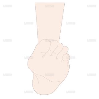 足の背屈 前面(Sサイズ)