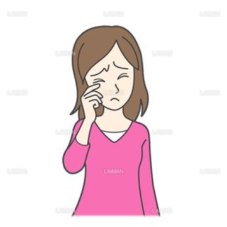 患者イラスト 目のかゆみ (Sサイズ)