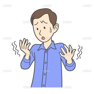 患者イラスト 手の震え(Mサイズ)