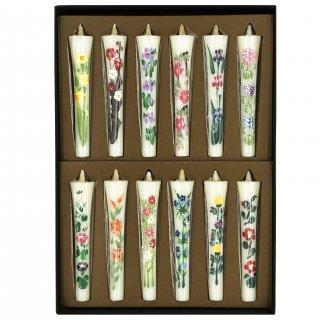 花絵ろうそく  四季の花 12本入 10cm