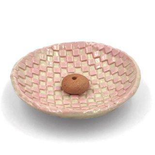 【信楽焼】市松丸香立|ピンク