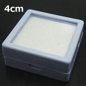 【ルースケース】 白 プラスチック 4x4cm 《10個セット》