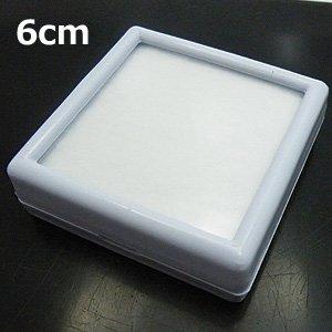【ルースケース】 白 プラスチック 約6cm×6cm 《10個セット》