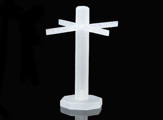 ピアス イヤリング スタンド ディスプレイ アクリル 約150x130mm クリアホワイト ピアスホルダー  展示 アクセサリー 収納 e-h-69