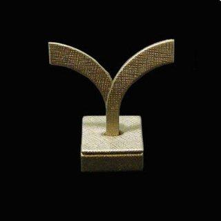 ピアス イヤリング スタンド ディスプレイ 特殊生地 B 約100x60x30mm 金色 ゴールド ピアスホルダー  展示 アクセサリー 収納 e-h-73-b