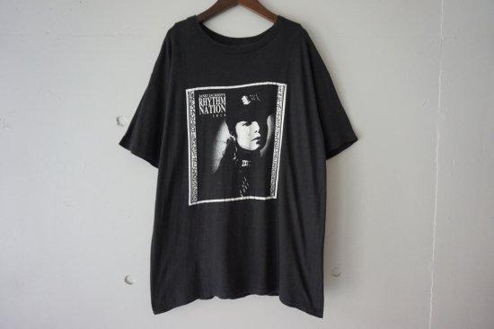 "80~90's Janet Jackson Bootleg ""Rhythm Nation 1814"" T-Shirts Size: XL"