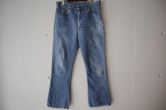 "70's Levi's 646 ""Big E"" Bell Bottom Denim Pants Size:34×31.5"