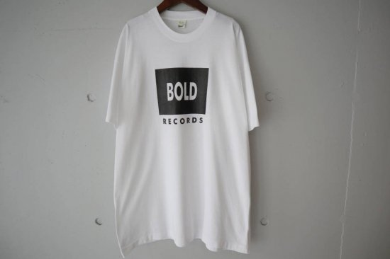 80's BOLD Records T-shirts Size:XL