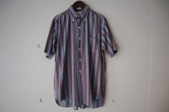 60's Wren Ltd. Chambray Stripe Cotton B.D. Shirts Size:M