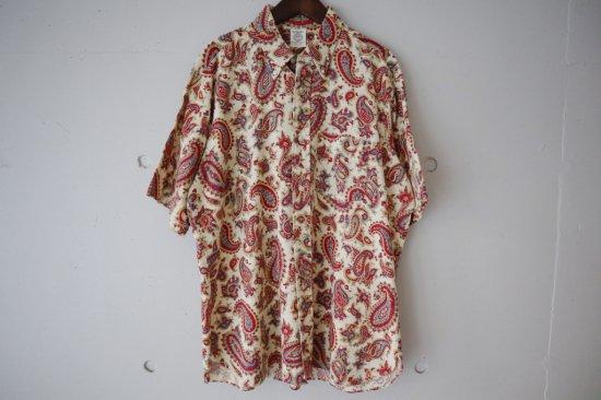 60's Arrow Paisley Cotton B.D. Shirts Size:L