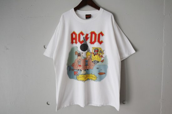 90's AC/DC×BEAVIS AND BUTT-HEAD T-Shirts Size:XL