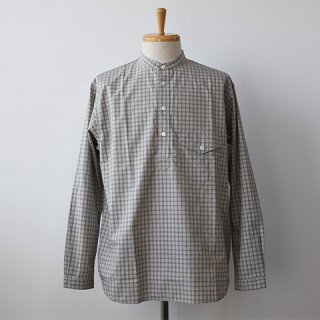 【ENDS and MEANS】 Band Collar Pullover Shirts   -Color Check-