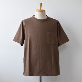 【SALE30%OFF】Jackman Pocket Short Sleeve TEE  [Umber Brown]