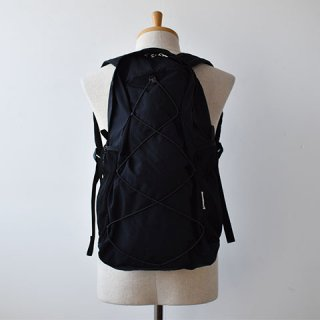 【ENDS and MEANS】Packable Nylon Backpack -Black-