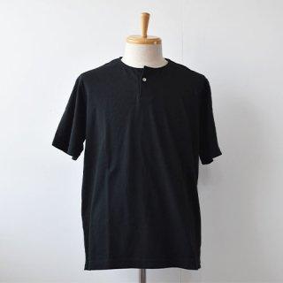 【Jackman】Henley Short Sleeve T-Shirts  -Black-