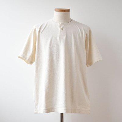 【Jackman】Henley Short Sleeve T-Shirts  -Kinari-