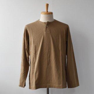 【Jackman】Henleyneck Long Sleeve T-Shirts  -Umber Beige-