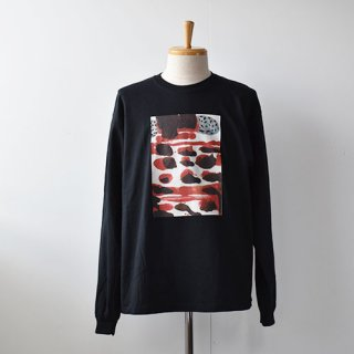 【EMDS and MEANS】  Dairy Rubies Long sleeve TEE    -Black-