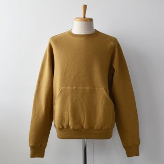 【ENDS and MEANS】 CREW NECK SWEAT 20AW -Yellowish Brown-