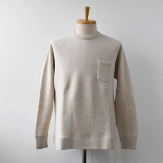【FLISTFIA】Crew Neck Sweat  -Oatmeal-