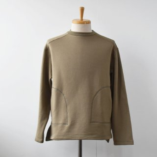 【SALE 40%OFF】Burlap Outfitter GRID FLEECE CREW TOP  -Moss-