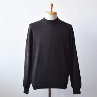 【ENDS and MEANS】Merino Wool Crew Neck Knit -Brown Black-