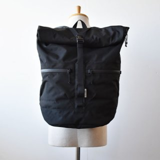 【 ENDS and MEANS】 Refugee Duffle Backpack -Black-