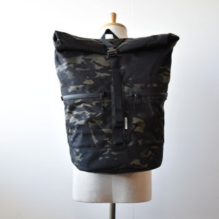 【 ENDS and MEANS】 Refugee Duffle Backpack -Black Multi Camo-