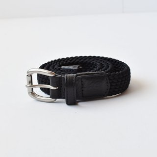 【 ENDS and MEANS】 ELASTIC WOVEN BELT -Black-
