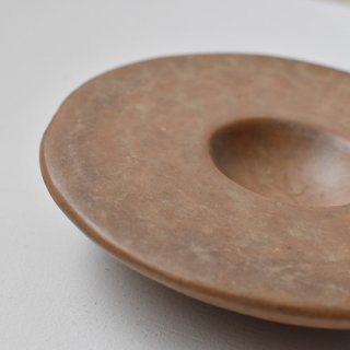 【ENDS and MEANS】 Incense Cone + Pottery Plate -Brown-