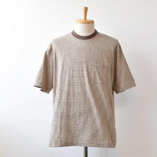 <img class='new_mark_img1' src='https://img.shop-pro.jp/img/new/icons14.gif' style='border:none;display:inline;margin:0px;padding:0px;width:auto;' />【ENDS and MEANS】  Short Sleeve Pocket TEE 2021SS  -Brown BD-