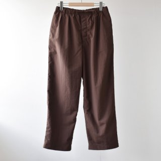 <img class='new_mark_img1' src='https://img.shop-pro.jp/img/new/icons14.gif' style='border:none;display:inline;margin:0px;padding:0px;width:auto;' />【ENDS and MEANS】  Relax Fit Trousers 2021SS  -Dark Brown-