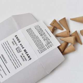 【ENDS and MEANS】  INCENSE CONE   -Awareness-