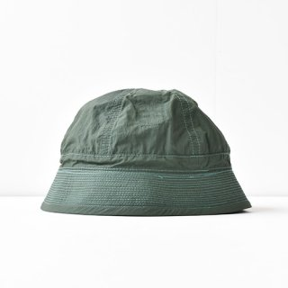 【ENDS and MEANS】2021SS NYLON ARMY HAT -Forest Green-