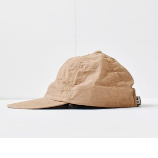 【 ENDS and MEANS】 2021SS COTTON 6 PANELS CAP -Caramel-
