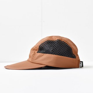【 ENDS and MEANS】 2021SS NYLON CAMP CAP -Brick Brown-